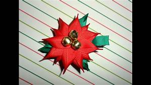 how to make a poinsettia flower out of paper poinsettia ribbon sculpture christmas holiday hair clip