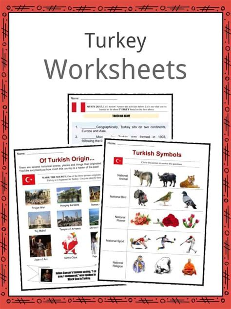 turkey facts worksheets climate geography history