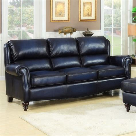 navy blue leather loveseat navy leather sofa interiors navy sofas