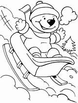 Coloring Pages Winter Sheets Kindergarten Need sketch template