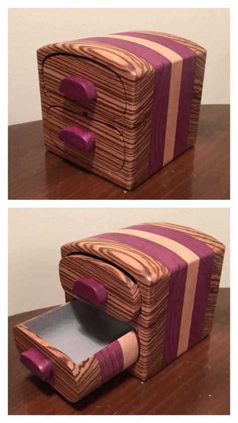 sold bandsaw box   zebra purple heart