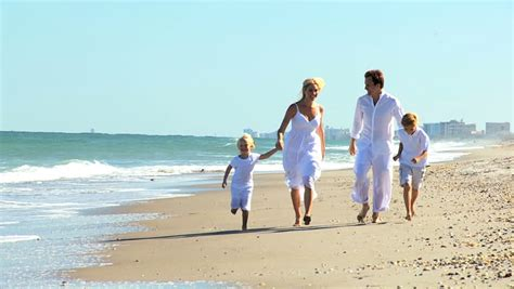 Summer Holiday Of Ethnic Happy Family Enjoying Together Beach Stock Footage Video 3082402