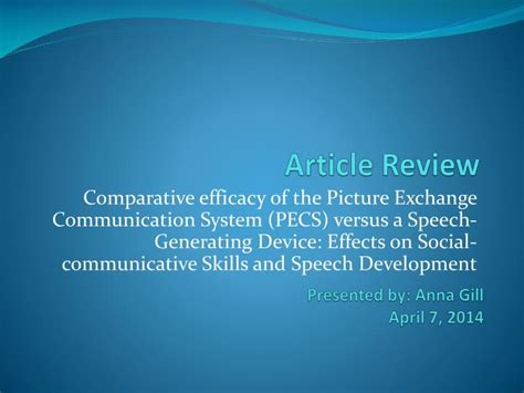 PPT - Article Review PowerPoint Presentation, free ...