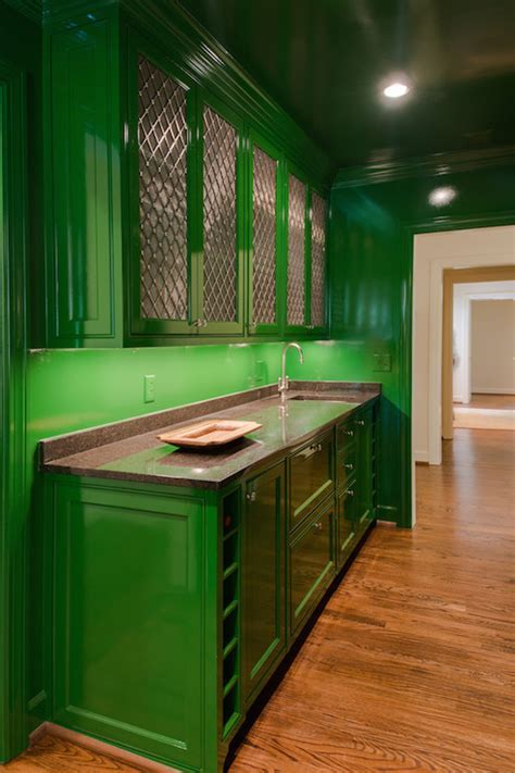 Green Kitchen Cabinets   Contemporary   kitchen   Porters