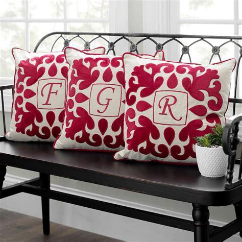 red velvet applique monogram pillows monogram pillows pillows applique monogram