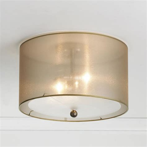 sheer elegance organza shade ceiling light l shades
