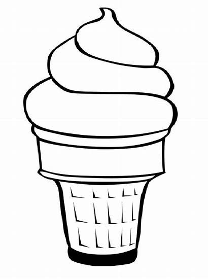 Ice Cream Sundae Cartoon Coloring Cliparts Pages