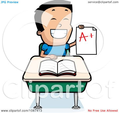 Student Sitting At Desk Clipart by Clip Smart Boy Clipart Clipart Suggest
