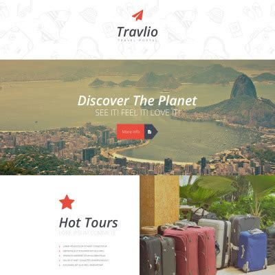 Tourism Landing Page Templates by Travel Landing Page Templates Templatemonster