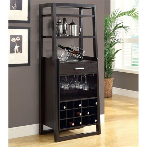 bar cabinet modern style monarch specialties i 2 ladder style home bar lowe 39 s canada