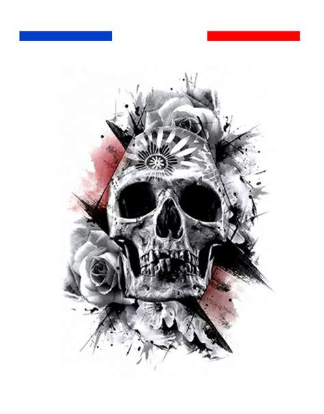 tatouage tete de mort realiste temporaire mon petit