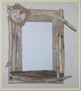 Cadre En Bois Flotté : cadre photo les cr ations en bois flott et tissu de miss soleil ~ Teatrodelosmanantiales.com Idées de Décoration