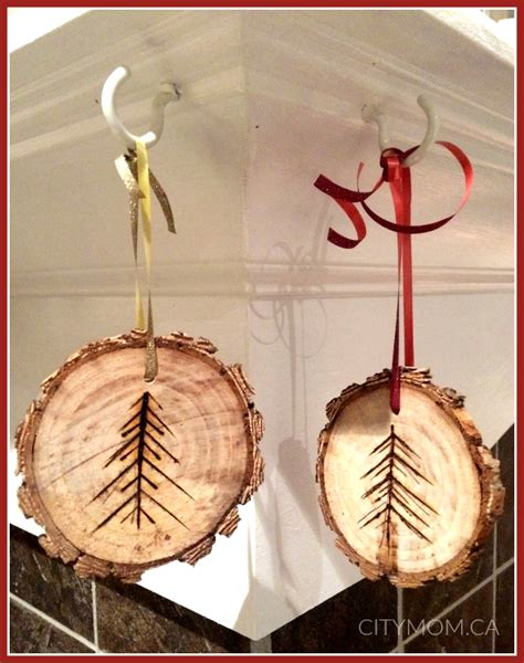 diy rustic wooden ornaments city mom