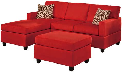 red sectional sofa with recliner red couches