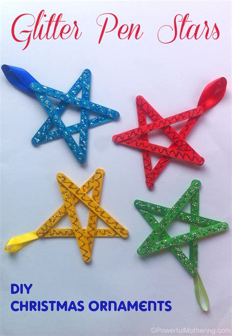 easy to make christmas ornaments for kids easy crafts for craft stick