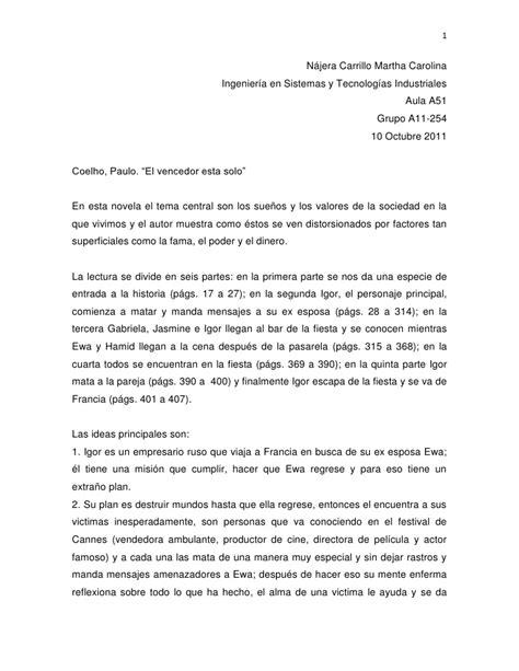 Enc Resume by Resumen El Vencedor Esta