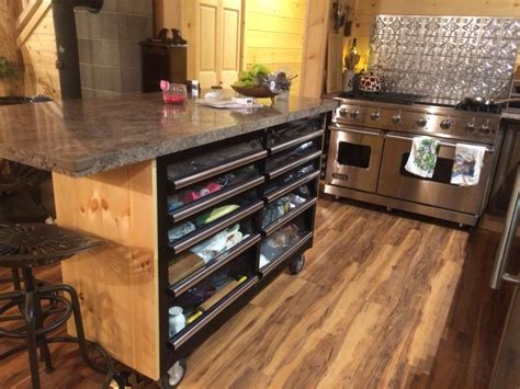 kitchen island design tool lowes toolbox converted into a kitchen island complete