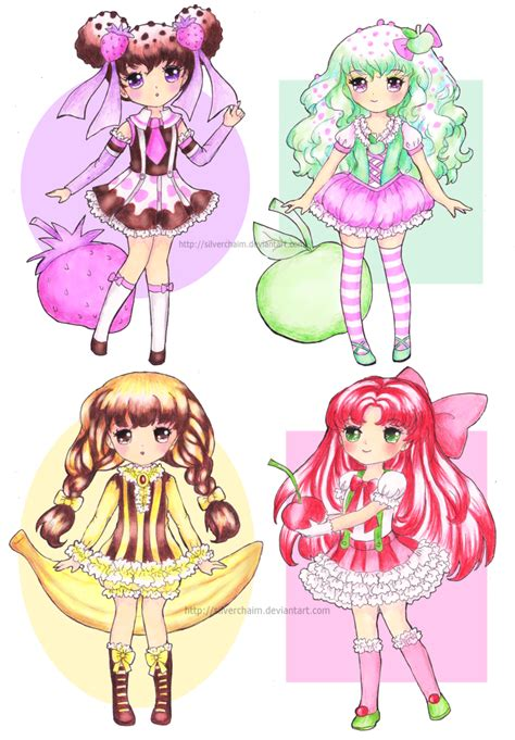 dessert girls by silverchaim on deviantart