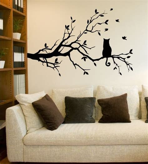 Wandtattoo Kinderzimmer Katze by Ast Mit Katze Wandtattoo Ast Tiere Katze Baum