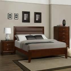 homelegance bleeker 3 platform bedroom set in brown