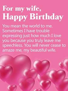 You Mean the World to Me - Happy Birthday Card for Wife ...