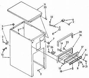 Kenmore Trash Compactor Cabinet And Control Parts