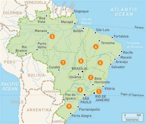 map  brazil brazil regions rough guides rough guides