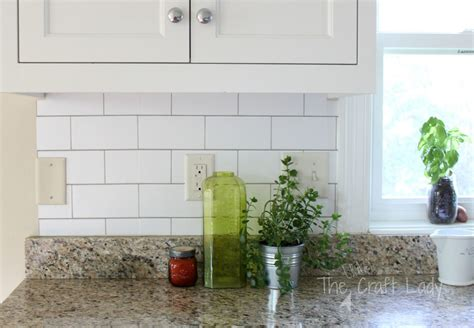 how to do backsplash tile in kitchen white subway tile temporary backsplash the tutorial 9390