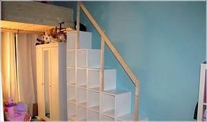 Etagenbett Mit Treppe Selber Bauen : Hochbett mit regal treppe. treppe und wohnen auf