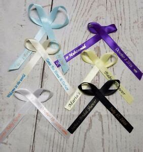 personalized ribbons favor baby shower bridal wedding