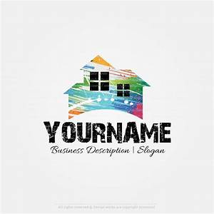 Create your own Online Home Painting logo Design