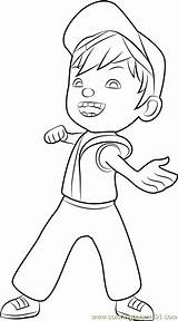 Boboiboy Coloring Fire Pages Coloringpages101 Pdf sketch template