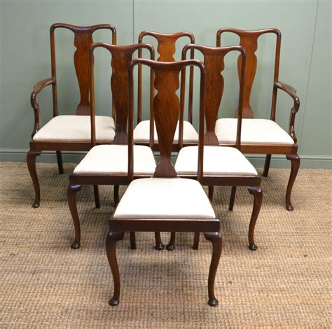 antique dining chair quality set of six antique mahogany edwardian 1267