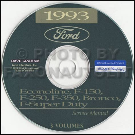 car service manuals pdf 1996 ford econoline e150 electronic valve timing 1993 ford van shop manual cd econoline e150 e250 e350 club wagon motorhome ebay