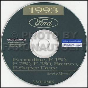1993 Ford Van Shop Manual Cd Econoline E150 E250 E350 Club Wagon Motorhome