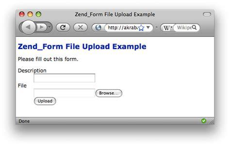 Simple Zendform File Upload Example  Rob Allen's Devnotes