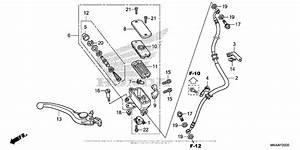 Front Brake Master Cylinder  1  For 2016 Honda Nc700