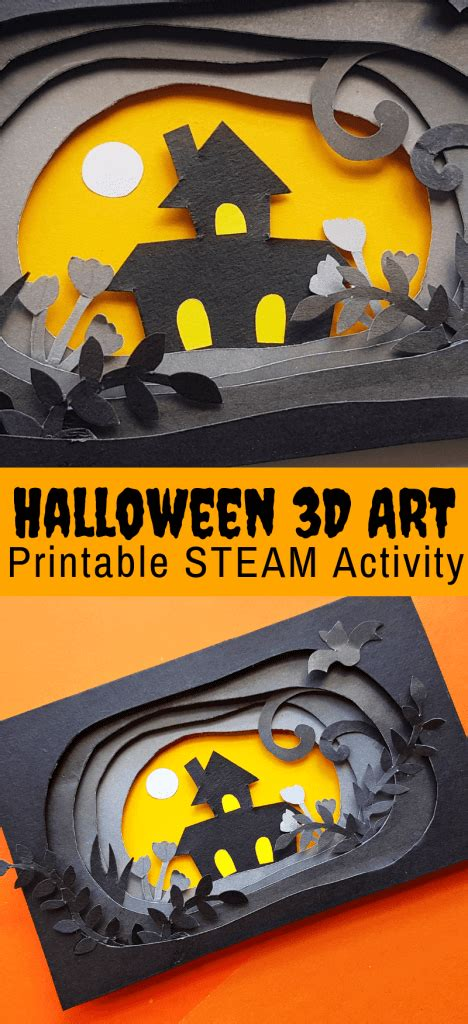 halloween paper craft    printable  bins