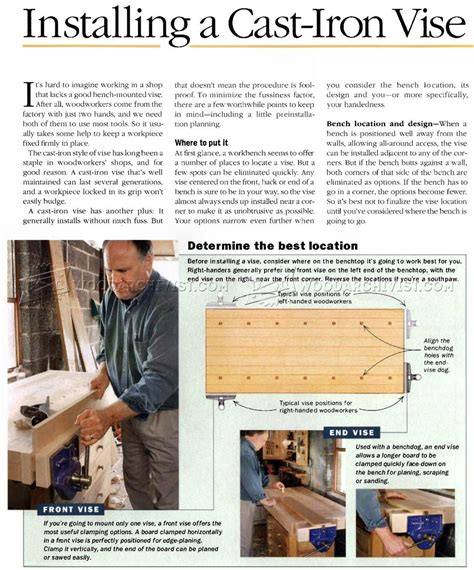 install  bench vise  woodworking