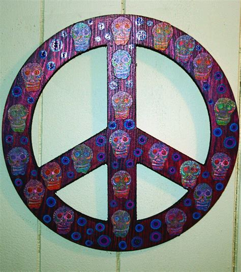 Funky Home Decor Peace Sign Wall Art $1995 Free Shipping