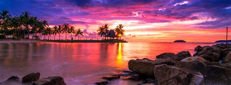 Tropical Beach Sunset Facebook Cover - ID: 28309 - Cover Abyss