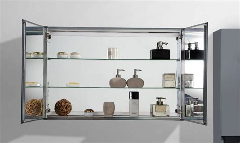 Badezimmer Spiegelschrank Scharniere by Aluminium Spiegelschrank 2 T 252 Rig Innen Und Au 223 En Spiegel