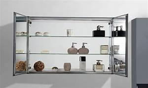 Spiegel 200 X 100 : aluminium spiegelschrank 2 t rig innen und au en spiegel 100 x 66 x 12 cm badewelt badm bel ~ Markanthonyermac.com Haus und Dekorationen