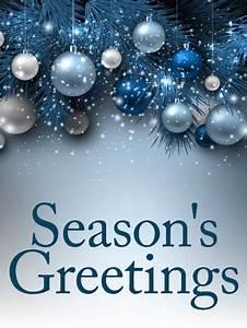 Blue Ornaments Season 39 S Greetings Card Birthday