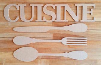 mot cuisine deco déco cuisine couverts et tableau ustensiles en bois la