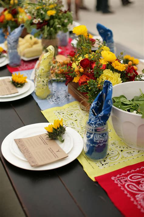 bbq table decorations diy bbq engagement party