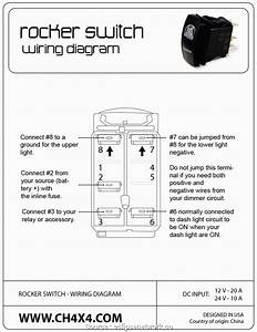 12 Volt Rocker Switch With Light Wiring Diagram