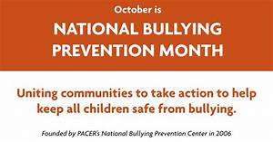 National Bullying Prevention Month National Bullying