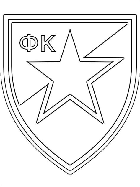 red star belgrade coloring page coloring pages