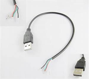 Usb 2 0 A Type Male Plug 4 Pin 4 Wire Data Charge Cable